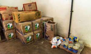 Weekly food rations were distributed thanks to you