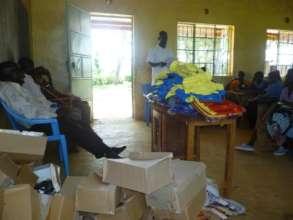 Orphans distrubtion of school uniform ,shoes , bag
