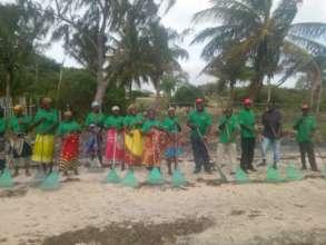 Beach Cleaning by Ntumbluku Volunteers