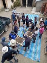 Workshop to teach biosand filter building process