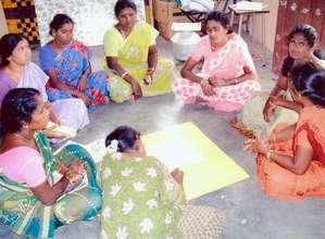 Raising awareness among Dalit women in 2010