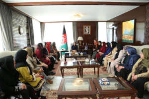 First Lady Ghani of Afghanistan and PTB Graduates
