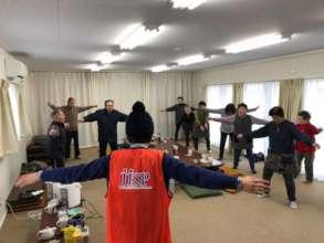 JISP's coordinator facilitating exercise