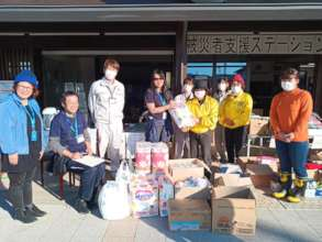 Relief goods distribution in Fukushima