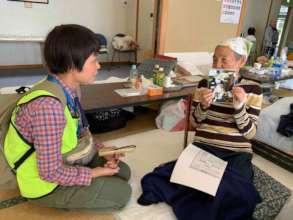 JISP's trained coordinator assessing the needs