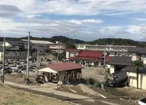 Severely damaged community in Ohsato, Miygai