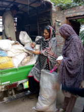 Grocery package distributed in rural communities