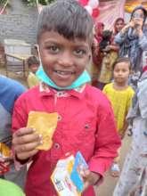 children get free medicine from health camp