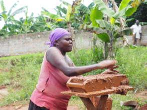 Lukia Making Mud Bricks