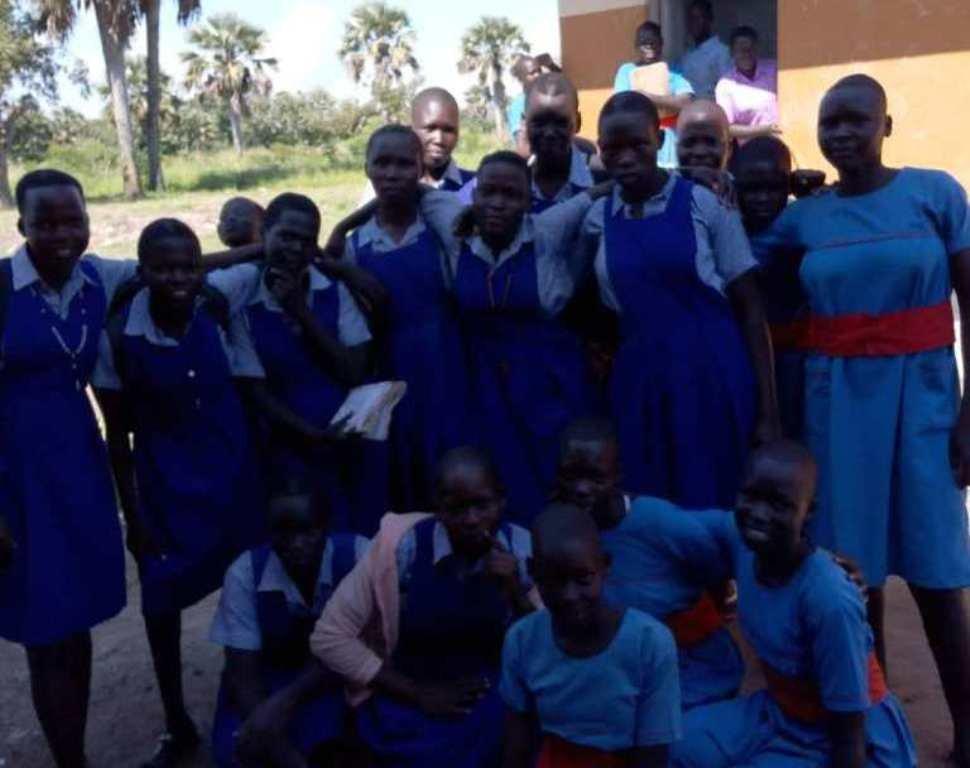 Support for menstrual hygiene for girls in Uganda