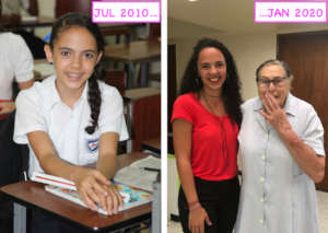 Angelica:10y ago 5th grade  / Today with Ma Luisa
