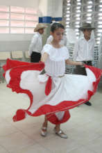 Angelica dancing joropo -folklore- at School