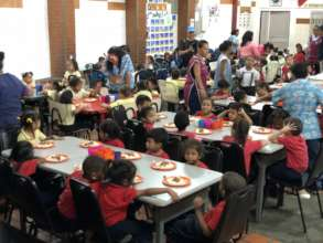 Lunch Time - kindergarten students