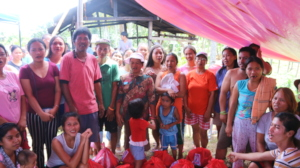 Grateful families in the remote areas