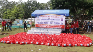 A flood of blessings for the affected families