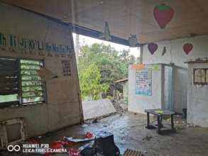 Inside the wreck of a Day Care Center