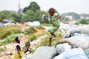 Children Playing in a Landfill in Abidjan