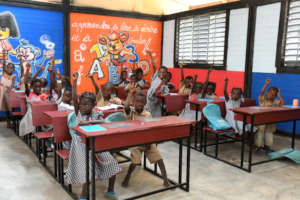 Children Learning in their new classroom