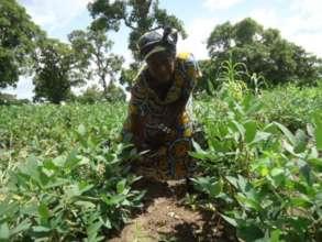 Woman farmer at her farm