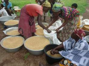 Sellling produce to lead farmer at the community