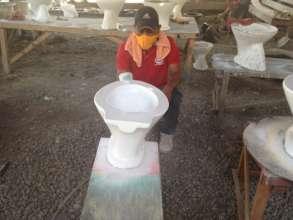 Toilet bowl production