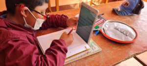 Using tablets to access online classes
