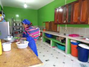 Kitchen after support from Help Bolivia