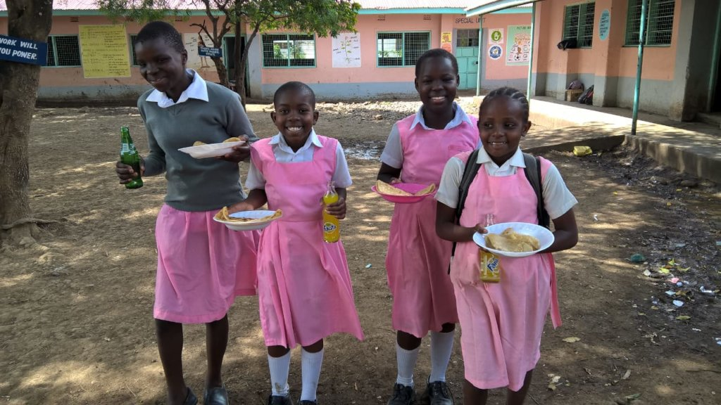 Provide school meals to one  rural girl's school