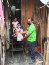 A family receives an AAI care package