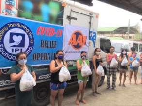 AAI volunteers deliver relief aid