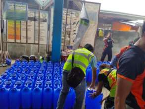 Water containers are essential during crisis