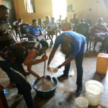 Training on soap making for various FGM survivours
