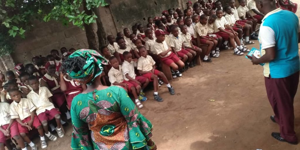 TAKING 250 LEARNERS FROM UNDER THE TREE IN NIGERIA