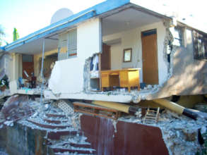 The APF clinic destroyed in the 2010 earthquake