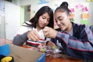 Young women practice robotics in Santa Cruz