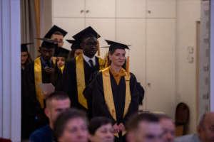 Anxhelina at her college graduation