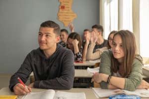 High schoolers at Nehemia School