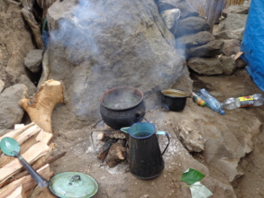 A. Open fire cooking