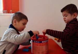We encourage cooperative play and learning