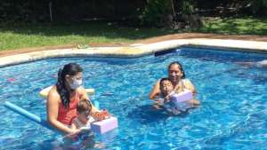 Special swimming for preschool