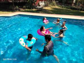 Special swimming for teenagers