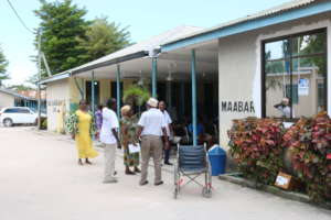 The TEWWY team visiting health service facilities