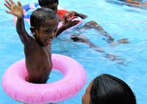 Fun in the pool - July 2020