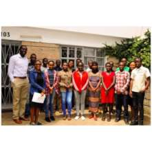 Co-founder Kayange with Cohort 4 youth