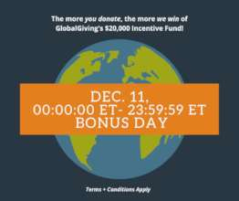 11th/Dec is Bonus Day at GlobalGiving