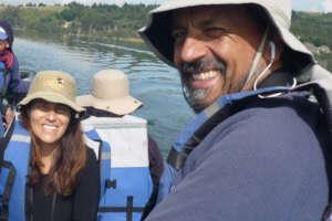 Monitoring birdlife, from Lake Tota