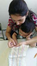 Stitching a sampler