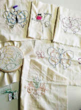 Panels for embroidered bag project