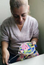 Embroidering 'chita'
