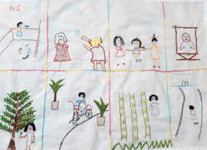 Embroidery of childhood memories